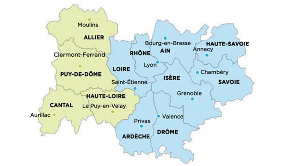 Carte Auvergne Rhone Alpes Etudes Maconniques A L Universite
